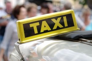 Taxi: foto van taxi bord