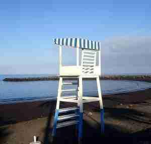 Strandwacht stoel op Playa El Beril